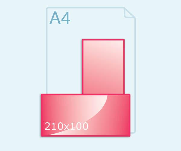 210x100 mm kaart maken